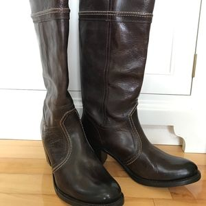 Frye Jane Tall Leather Boots Size 11